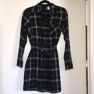H&M Plaid shirt dress, Size 6